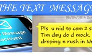 The text message in ghana