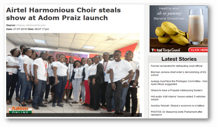 Airtel Harmonious choir steals show