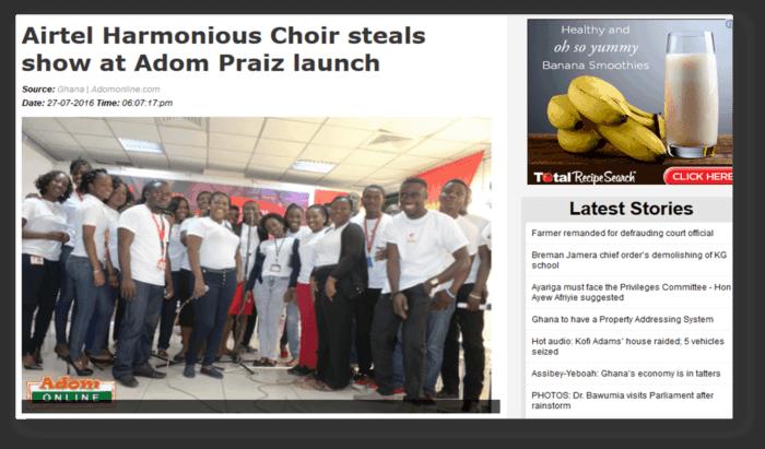 Airtel Harmonious choir steals show