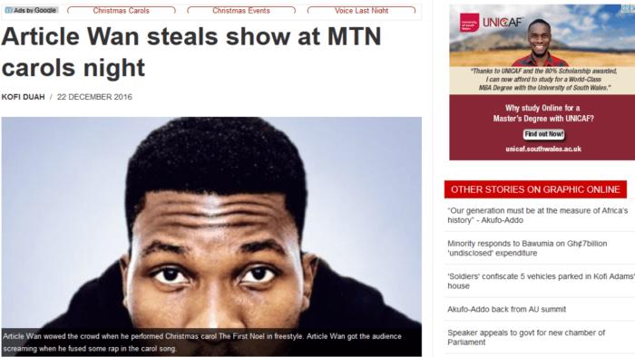 Article Wan steals show
