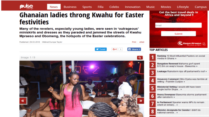 Ghanaian ladies throng