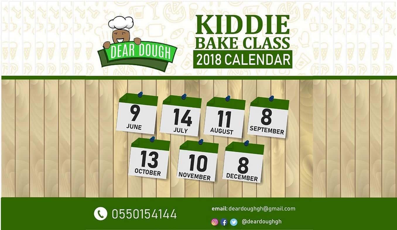 Dear Dough Kiddie Bake Class