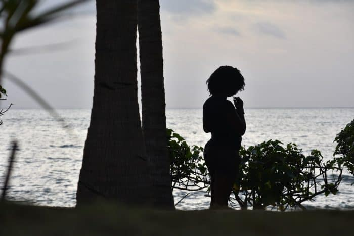 lou moon beach resort silhouette