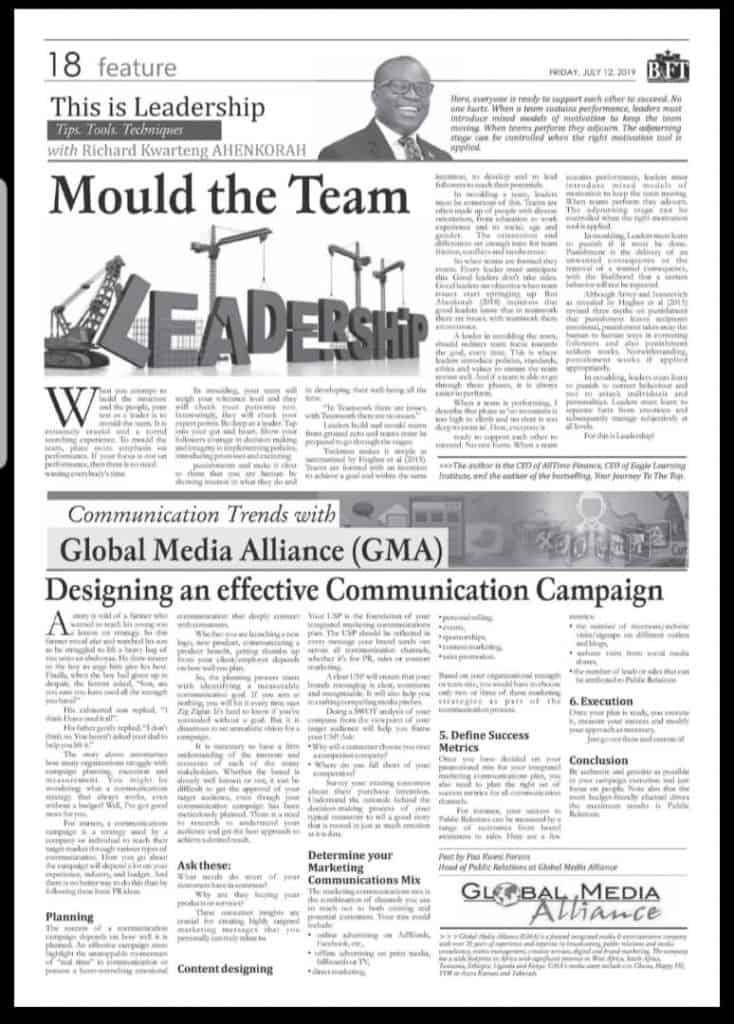 Designing An Effective Communication Campaign-BFT column